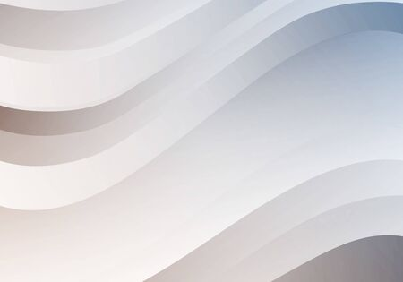 Abstract White Background with Waves. Vector Minimal Banner. Pearl Colored Sleek Texture Çizim