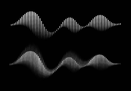 Abstract Illustration of Sound Wave Rhythm. Vector Modern Equalizer. Ilustrace