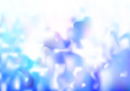 Abstract Background with Blue Blurred Pattern. Vector Fluid Texture.