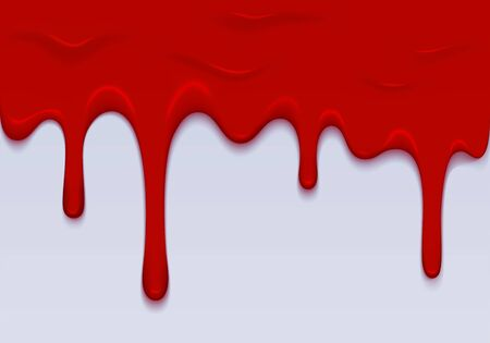 Red Blood Illustration. Vector Border Dripping Blood. Abstract Halloween Background