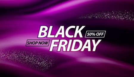 Black Friday Sale Banner Design. Vector Illustration