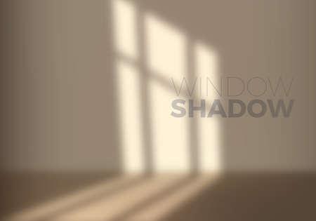 Vector Transparent Shadow of Window. Decorative Design Element for Collages. Creative Overlay Effect for Mockups Illusztráció