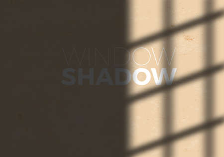 Transparent Shadow of Window. Decorative Design Element for Collages. Creative Overlay Effect for Mockups