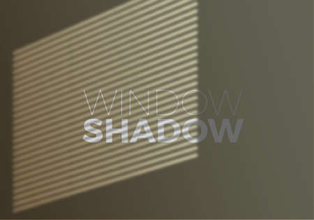 Vector Transparent Realistic Shadow of Window with Window Blind. Decorative Design Element for Collages