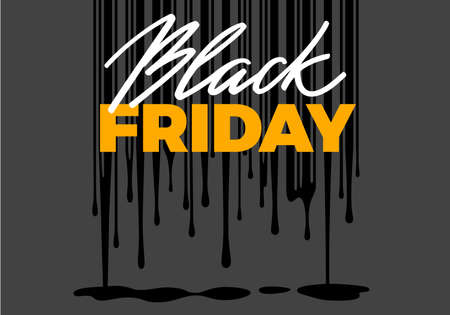 Black Friday Sale Banner Design. Melting Prices Illustration Concept with Barcode. Vector Advertising Illustration Illusztráció