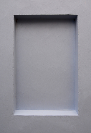 Einbuchtung: Einen l�nglichen Vertiefung in einer glatten Wand