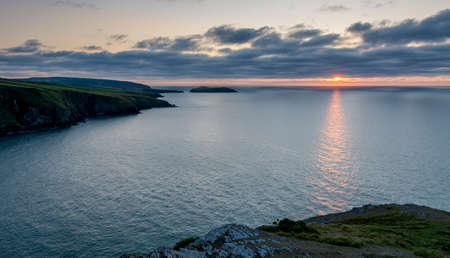 Coastal landscape - Wales - view south from Mwnt
