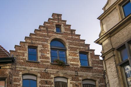 Typical Flemish Belgium buildings