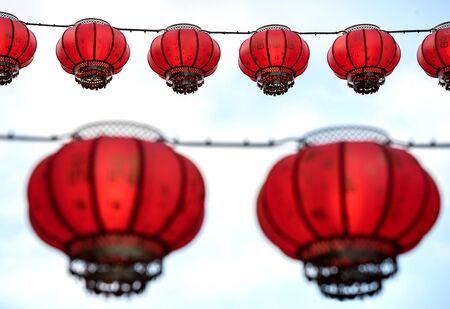 Red lanterns in Chinatown