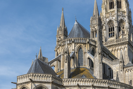 Roof detail of the cathedral in Bayeux, Normandy, France