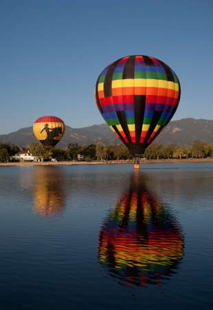 Hot Air Balloon Coming Into for a Water Landing