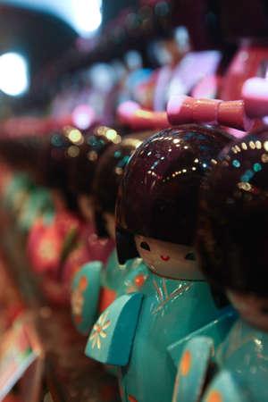 bridget calip: Hong Kong Wooden Geisha Dolls