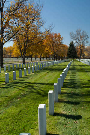 Fort Logan National Cemetary in the Autumn Stock Photo