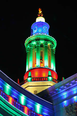 Denver City and County Building Illuminated For Christmas