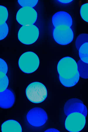 Blue Lights Bokeh