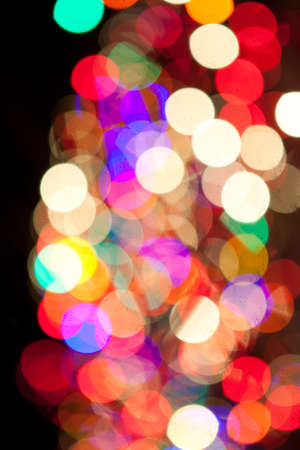 red green yellow pink blue orange yellow christmas lights bokeh
