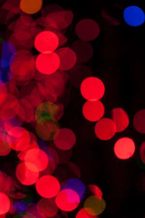 chatfield: Red Christmas Lights Bokeh