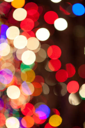 Red, Green, Yellow, Pink, Blue, Orange, Yellow Christmas Lights Bokeh Stock Photo - 17169677