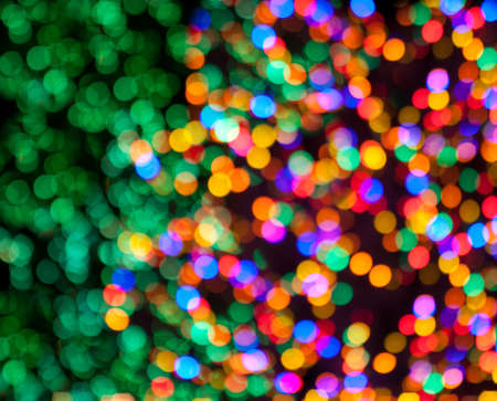 Red, Green, Yellow, Pink, Blue, Orange, Yellow Christmas Lights Bokeh
