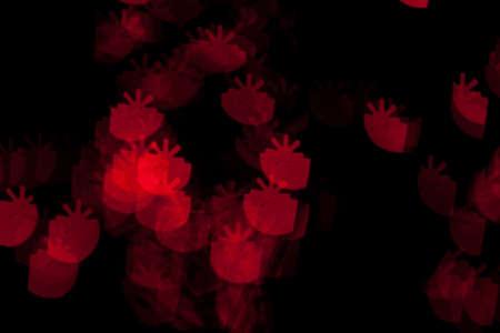 Red Christmas Present Lights Bokeh