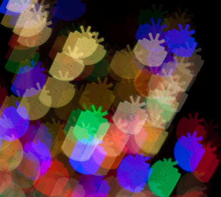 chatfield: Red, White, Blue, Green, Pink, Yellow Christmas Presents Lights Bokeh