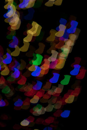 Red, White, Blue, Green, Pink, Yellow Christmas Stocking Lights Bokeh Stock Photo - 17169446