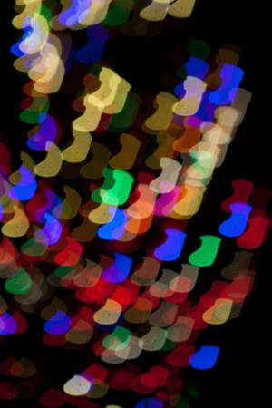 Red, White, Blue, Green, Pink, Yellow Christmas Stocking Lights Bokeh Stock Photo - 17169499