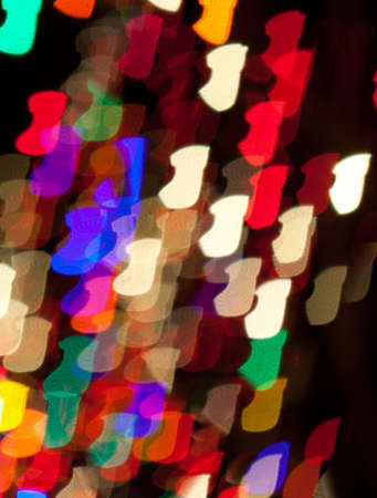 Red, White, Blue, Green, Pink, Yellow Christmas Stocking Lights Bokeh Stock Photo - 17169438