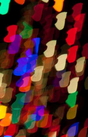 Red, White, Blue, Green, Pink, Yellow Christmas Stocking Lights Bokeh Stock Photo - 17169432