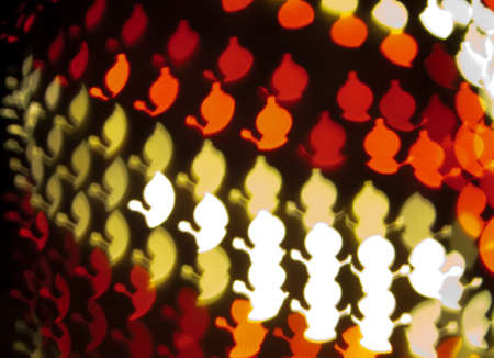 Red and White Ornament Lights