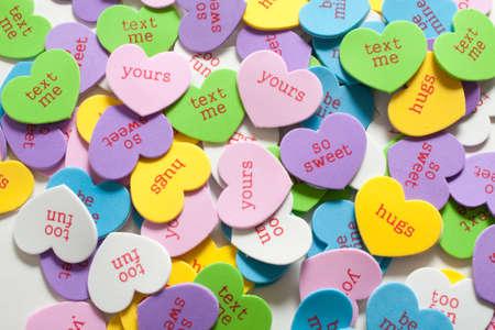 bridget calip: Colorful Assortment of Conversation Hearts
