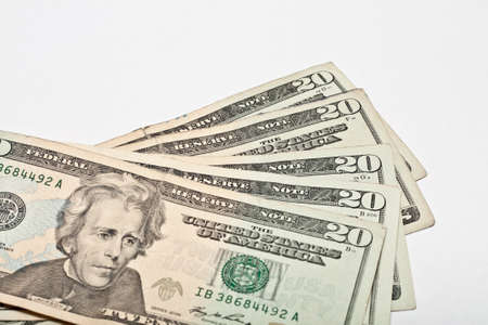 Twenty Dollar United States Currency Bill Stock Photo - 18809817