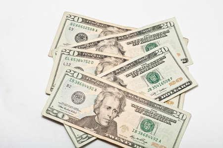 Twenty Dollar United States Currency Bill Stock Photo - 18809823