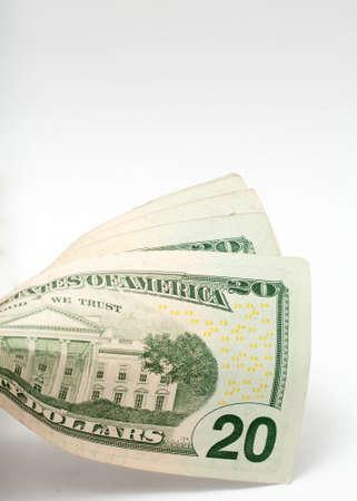 bridget calip: Twenty Dollar United States Currency Bill Stock Photo