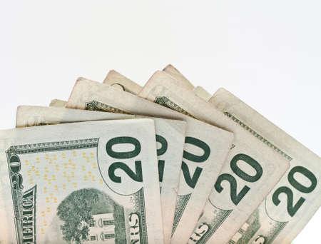Twenty Dollar United States Currency Bill Foto de archivo
