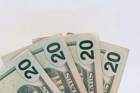 Twenty Dollar United States Currency Bill Stock Photo - 18809787