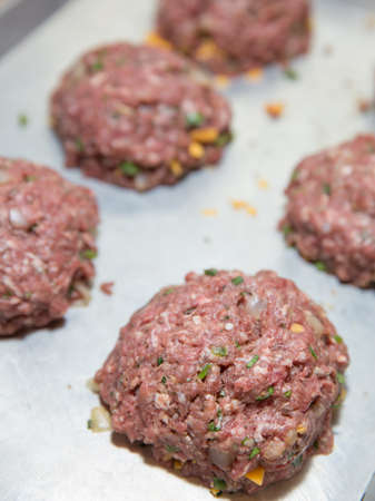 Fresh Made Raw Hamburger Patties