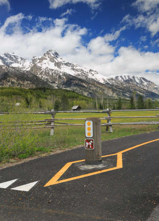 Bike Path Where Dogs Are Not Allowed in the Rocky Mountains photo