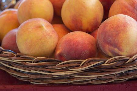 Fresh Peaches From the Farm in a Basket photo
