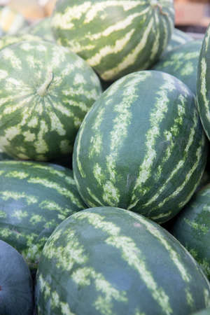Organic Locally Grown Watermelon For Sale at Farmers Market photo