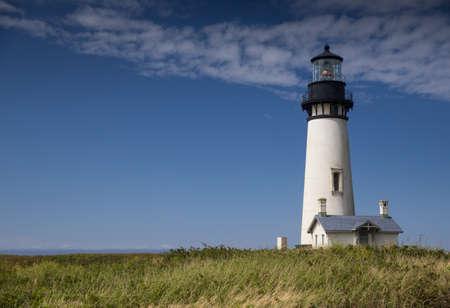 Yaquina Head Black and White Lighthouse Stock Photo