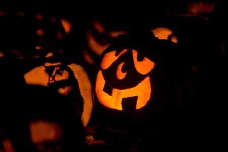 Goofy Halloween Pumpkin Stock Photo