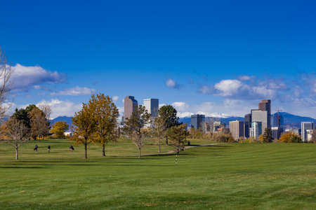 The Mile High City, Denver, Colorado in the Autumn Stock Photo