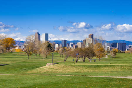 9th Hole of City Park Golf Course, Denver, Colorado in the Fall Editorial
