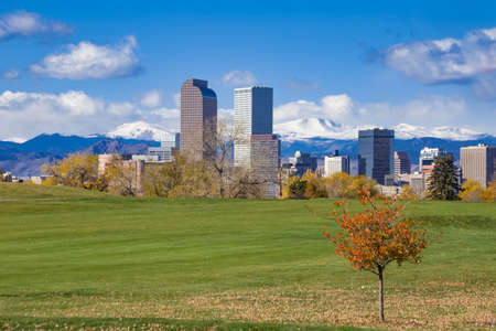 Downtown Denver Skyline in the Autumn