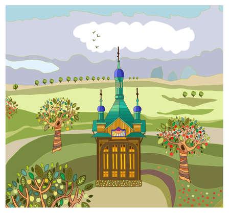 landscape with a chapel