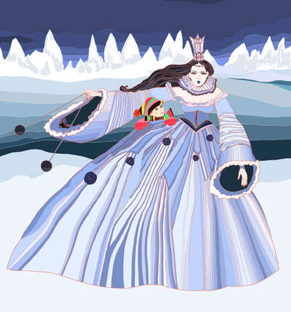 snow queen: Bad Queen Illustration