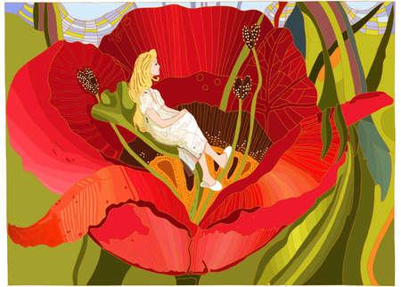 Thumbelina Ilustrace