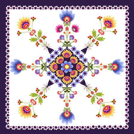folk art: Floral pattern