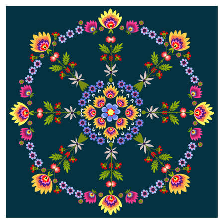 embroidery flower: Rosette Illustration